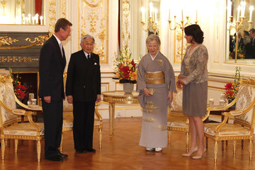 Emperor Akihito Luxembourg's Grand Duke Henri and Princess Alexandra Are Welcomed by Japan's Emperor Akihito and Empress Michiko