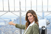 Cindy Crawford attends the Empire State Building in celebration of International Women's Day in partnership with Delivering Good and Jones New York on March 03, 2020 in New York City.