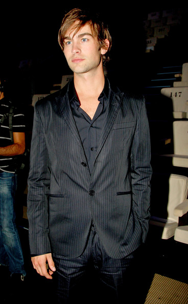 Actor Chace Crawford attends the Emporio Armani show as part of Milan