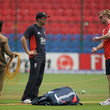 Paul Collingwood and Andy Flower Photos