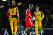 Tim Paine of Australia celebrates the run out of Luke Wright of England as a no ball is signalled by the umpire during the 1st NatWest One Day International between England and Australia at The Brit Oval on September 4, 2009 in London, England.