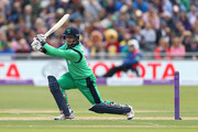 William Porterfield of Ireland plays to the legside during the Royal London One Day International match between England and Ireland at The Brightside Ground on May 5, 2017 in Bristol, England.