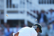 Imran Tahir of South Africa is bowled out by James Anderson of England for 1 run during day four of the third Investec test match between England and South Africa at Lord's Cricket Ground on August 19, 2012 in London, England.