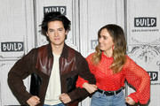 """Cole Sprouse and Haley Lu Richardson visits Build to discuss """"Five Feet Apart"""" at Build Studio on March 12, 2019 in New York City."""