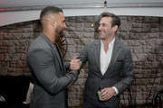 "Ricky Whittle and Jon Hamm attend Entertainment Weekly + Amazon Prime Video's ""Saints & Sinners"" Party At SXSW on March 9, 2019 in Austin, Texas."