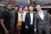 "Demore Barnes, Ricky Whittle, Bruce Langley, David Tennant, Michael Sheen and Jon Hamm attend Entertainment Weekly + Amazon Prime Video's ""Saints & Sinners"" Party At SXSW on March 9, 2019 in Austin, Texas."