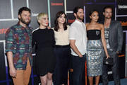 """(L-R) Actors Seth Gabel, Elise Eberle, Janet Montgomery, Iddo Goldberg, Ashley Madekwe and Shane West from the show """"Salem"""" attend Entertainment Weekly's annual Comic-Con celebration at Float at Hard Rock Hotel San Diego on July 26, 2014 in San Diego, California."""