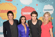 (L-R) Actor Ian Somerhalder, actress Kat Graham, actor Paul Wesley and Candice Accola attend Entertainment Weekly's Annual Comic-Con Celebration at Float at Hard Rock Hotel San Diego on July 20, 2013 in San Diego, California.