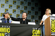 """(L-R) Christopher Meloni, David Harbour and Lynette Rice speak on stage during Entertainment Weekly's """"Brave New Warriors"""" Panel at San Diego Comic-Con 2017 at San Diego Convention Center on July 21, 2017 in San Diego, California."""