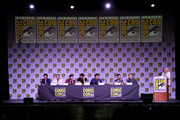 "(L-R) Santiago Cabrera, Dylan Bruce, Eoin Macken, Tom Ellis, Benedict Wong, Jay Hernandez, and Stephen Moyer attend Entertainment Weekly ""Brave Warriors"" panel during San Diego Comic-Con 2018 at the San Diego Convention Center on July 20, 2018 in San Diego, California."