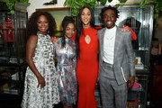(L-R) Crystal Fox, Marsai Martin, Mj Rodriguez , and Caleb McLaughlin are seen as Entertainment Weekly Celebrates Screen Actors Guild Award Nominees at Chateau Marmont on January 18, 2020 in Los Angeles, California.