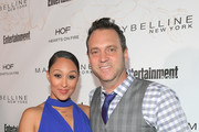 Tamera Mowry (L) and Adam Housley attend Entertainment Weekly's Screen Actors Guild Award Nominees Celebration sponsored by Maybelline New York at Chateau Marmont on January 20, 2018 in Los Angeles, California.