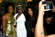 (L-R) Danai Gurira, Nyakim Gatwech, and Angela Bassett attend Entertainment Weekly Celebrates Screen Actors Guild Award Nominees sponsored by L'Oreal Paris, Cadillac, And PopSockets at Chateau Marmont on January 26, 2019 in Los Angeles, California.