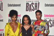 (L-R) Nafessa Williams, China Anne McClain and Christine Adams attend Entertainment Weekly's Comic-Con Bash held at FLOAT, Hard Rock Hotel San Diego on July 21, 2018 in San Diego, California sponsored by HBO