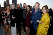 (L-R) Actors Aubrey Plaza, Jean Smart, Jeremie Harris, Dan Stevens, Amber Midthunder, Bill Irwin and Rachel Keller attend the Entertainment Weekly and FX After Dark event at the EW Studio during Comic-Con at Hard Rock Hotel San Diego on July 20, 2017 in San Diego, California.