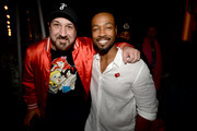 Joey Fatone and Isaiah Mustafa attend Entertainment Weekly's Comic-Con Bash held at FLOAT, Hard Rock Hotel San Diego on July 20, 2019 in San Diego, California sponsored by HBO.