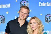 Alexander Ludwig and Katheryn Winnick attend Entertainment Weekly's Comic-Con Bash held at FLOAT, Hard Rock Hotel San Diego on July 20, 2019 in San Diego, California sponsored by HBO.