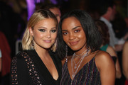 Olivia Holt and China Anne McClain attend Entertainment Weekly's Comic-Con Bash held at FLOAT, Hard Rock Hotel San Diego on July 21, 2018 in San Diego, California sponsored by HBO
