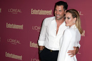 (L-R) Maksim Chmerkovskiy and  attends the 2019 Pre-Emmy Party hosted by Entertainment Weekly and L'Oreal Paris at Sunset Tower Hotel in Los Angeles on Friday, September 20, 2019.