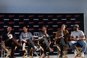 (L-R) Actors James Wolk, Joel de la Fuente, Jason Lewis, Josh Dallas and Josh Bowman speak to fans at Entertainment Weekly's Brave Warriors panel during New York Comic Con on October 7, 2018 in New York City.