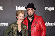 Rachel Reichard and Chris Sullivan of This Is Us attend Entertainment Weekly & PEOPLE New York Upfronts celebration at The Bowery Hotel on May 14, 2018 in New York City.