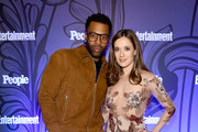 Laroyce Hawkins and Marina Squerciati attend Entertainment Weekly & PEOPLE New York Upfronts celebration at The Bowery Hotel on May 14, 2018 in New York City.