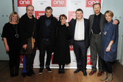 """Sue Vertue, David Arnold, Rupert Graves, Una Stubbs, Steven Moffat, Mark Gatiss and Sian Brooke attend episode three preview screening of """"Sherlock"""" at BFI Southbank on January 12, 2017 in London, England."""