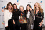 (L-R) Simone Lahorgue, Sue Smalley, Margaret Atwood, Paula Ravets and Lara Stein attend the annual Make Equality Reality Gala hosted by Equality Now on November 19, 2019 in New York City.