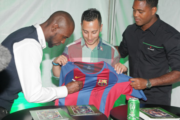 Eric Abidal The UEFA Champions League Trophy Tour Presented By Heineken - Dallas Stop