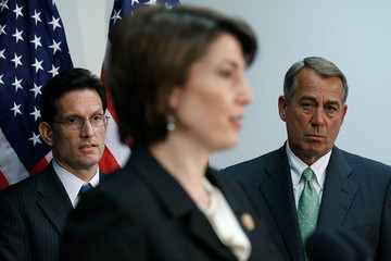 Eric Cantor Cathy McMorris Rodgers House GOP Leaders Speak to the Media