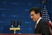 House Majority Leader Eric Cantor (R-VA) walks up to the podium to speak to the media about his defeat last night, during a news conference at the   U.S. Capitol, June 11, 2014 in Washington, DC. Yesterday House Majority Leader Eric Cantor (R-VA) lost his Virginia primary to Tea Party challenger Dave Brat.