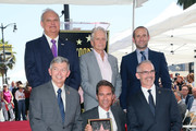 (L-R, front row) Hollywood Chamber of Commerce, President/CEO Leron Gubler, Eric McCormack, LA Councilmember Mitch O'Farrell, (L-R, back row) Jeff Zarrinnam,Michael Douglas and Max Mutchnick attend Eric McCormack being honored with a Star on the Hollywood Walk of Fame on September 13, 2018 in Hollywood, California.