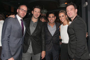 """(L-R) Chad Griffin, Tony Romo, Eric Podwall, Candice Crawford, and JC Chasez attend """"The Evening Before""""- a pre-White House Correspondents' Dinner party hosted by Eric Podwall and Spotify at Chaplin's Restaurant on April 24, 2015 in Washington, DC."""
