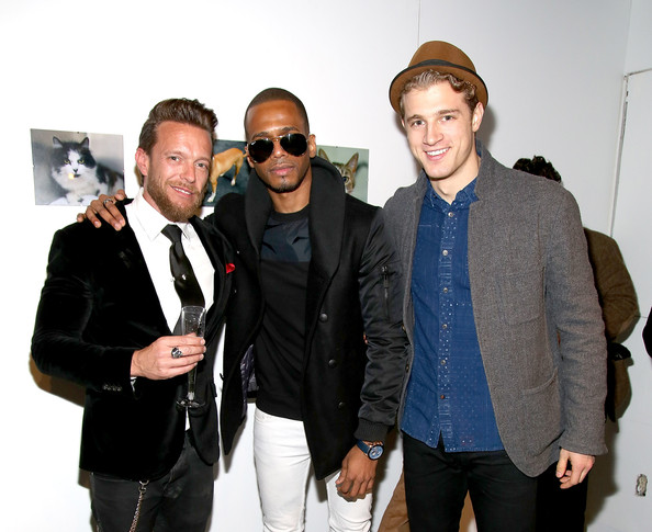 Pet Portrait Exhibition  [eyewear,fashion,event,fashion design,outerwear,suit,white-collar worker,photography,formal wear,premiere,jamie mccarthy,jamie mccarthy to benefit animal care control of nyc,eric west,pasha pellosie,rates,exclusive access,l-r,getty images,pet portrait exhibition,pet portrait exhibition]