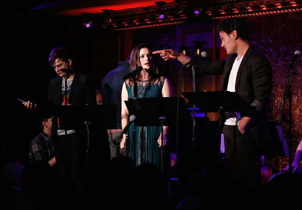 Performances at 'Hit List' in NYC [entertainment,performance,event,performing arts,stage,music,singing,musician,musical ensemble,concert,hit list,new york city,jeremy jordan,andy mientus,carrie manolakos,actors,krysta rodriguez,eric william morris]