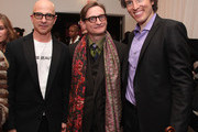 (L-R)  Stephen Petronio, Hamish Bowles and Tim Fain attend the Erickson Beamon Fall/Winter 2011 Presentation at Milk Studios on February 13, 2011 in New York City.