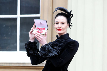Erin O'Connor Investitures at Buckingham Palace