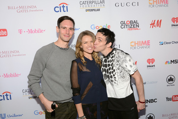 2015 Global Citizen Festival in Central Park to End Extreme Poverty by 2030 - VIP Lounge [yellow,event,fun,photography,premiere,taylor,actors,cory michael smith,erin richards,robin,end extreme poverty,l-r,central park,lounge,global citizen festival]