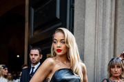 Jasmine Sanders attends the Ermanno Scervino show at Milan Fashion Week Spring Summer 2020 on September 21, 2019 in Milan, Italy.