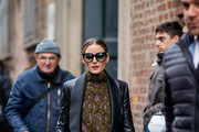 Olivia Palermo attends the Ermanno Scervino show at Milan Fashion Week Autumn/Winter 2019/20 on February 23, 2019 in Milan, Italy.