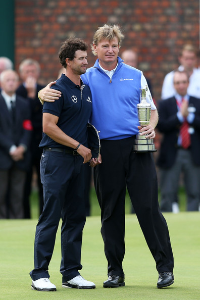 Adam Scott and Ernie Els - 141st Open Championship - Final Round