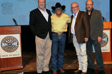 Erv Woolsey George Strait Press Conference And Reception