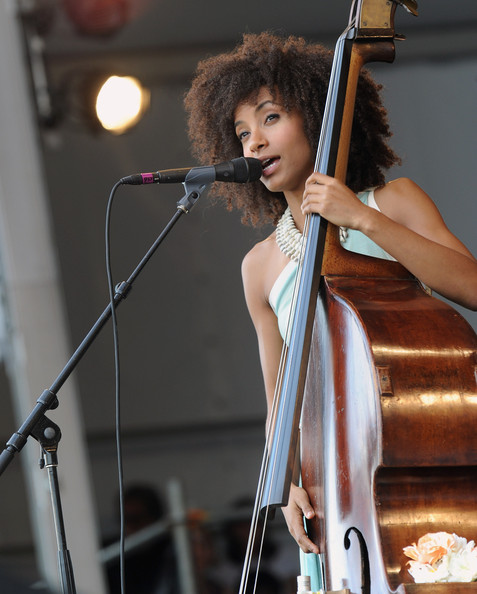 Esperanza Spalding Esperanza Spalding: Radio Music Society performs during the 2012 New Orleans Jazz & Heritage Festival - Day 4, at the Fair Grounds Race Course on May 3, 2012 in New Orleans, Louisiana.