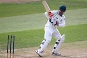 Alexei Kervezee of Worcestershire looks back at the stumps after being bowled out by Essex's Jesse Ryder during day one of the LV County Championship match between Essex and Worcestershire at The Ford County Ground, on September 23, 2014 in Chelmsford, England.