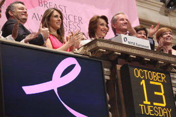 Evelyn H. Lauder Estee Lauder's Breast Cancer Awareness Campaign Rings The NYSE Opening Bell