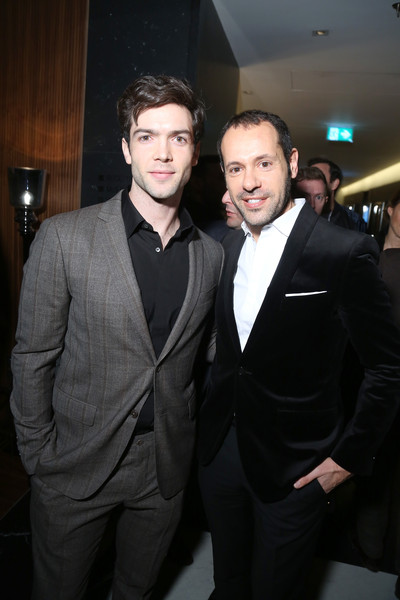 GQ Celebrates GQ Style Editor-In-Chief Will Welch - Milan Men's Fashion Week  FW16 [suit,formal wear,tuxedo,fashion,event,white-collar worker,fun,smile,premiere,haute couture,will welch,editor-in-chief,will welch - milan mens fashion week,ethan peck,massimiliano giornetti,fw16,milan,italy,gq celebrates gq style,celebration of gq style]