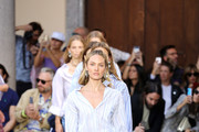 Model Candice Swanepoel walks the runway at the Etro show during the Milan Fashion Week Spring/Summer 2020 on September 20, 2019 in Milan, Italy.