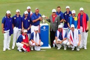 Team Europe with Prime Minister of Malaysia, Datuk Seri Mohd Najib Tun Razak, pose with the trophy after winning the EurAsia Cup 2016 presented DRB-HICOM at Glenmarie G&CC on January 17, 2016 in Kuala Lumpur, Malaysia.