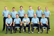 Team Europe. Back row L/R. Jamie Donaldson of Wales, Pablo Larrazabal of Spain, Gonzalo Fernadez-Castano of Spain, Stephen Gallacher of Scotland, Victor Dubuisson of France and Joost Luiten of The Netherlands. Front row L/R. Vice-Captain Des Smyth of Ireland, Graeme McDowell of Northern Ireland, The Captain Miguel Angel Jimenez of Spain, Thomas Bjorn of Denmark and Thorbjorn Olesen of Denmark pictured during the team photocall prior to the EurAsia Cup at the Glenmarie G&CC on March 26, 2014 in Kuala Lumpur, Malaysia.