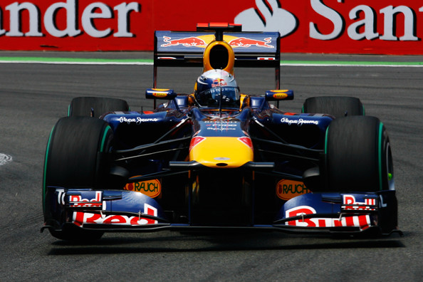 Sebastian Vettel of Germany and Red Bull Racing drives during the European Formula One Grand Prix at the Valencia Street Circuit on July 27, 2010, in Valencia, Spain.